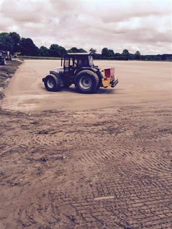 Nace O'Dowd Park Pitch Development-Grass Seed Sown